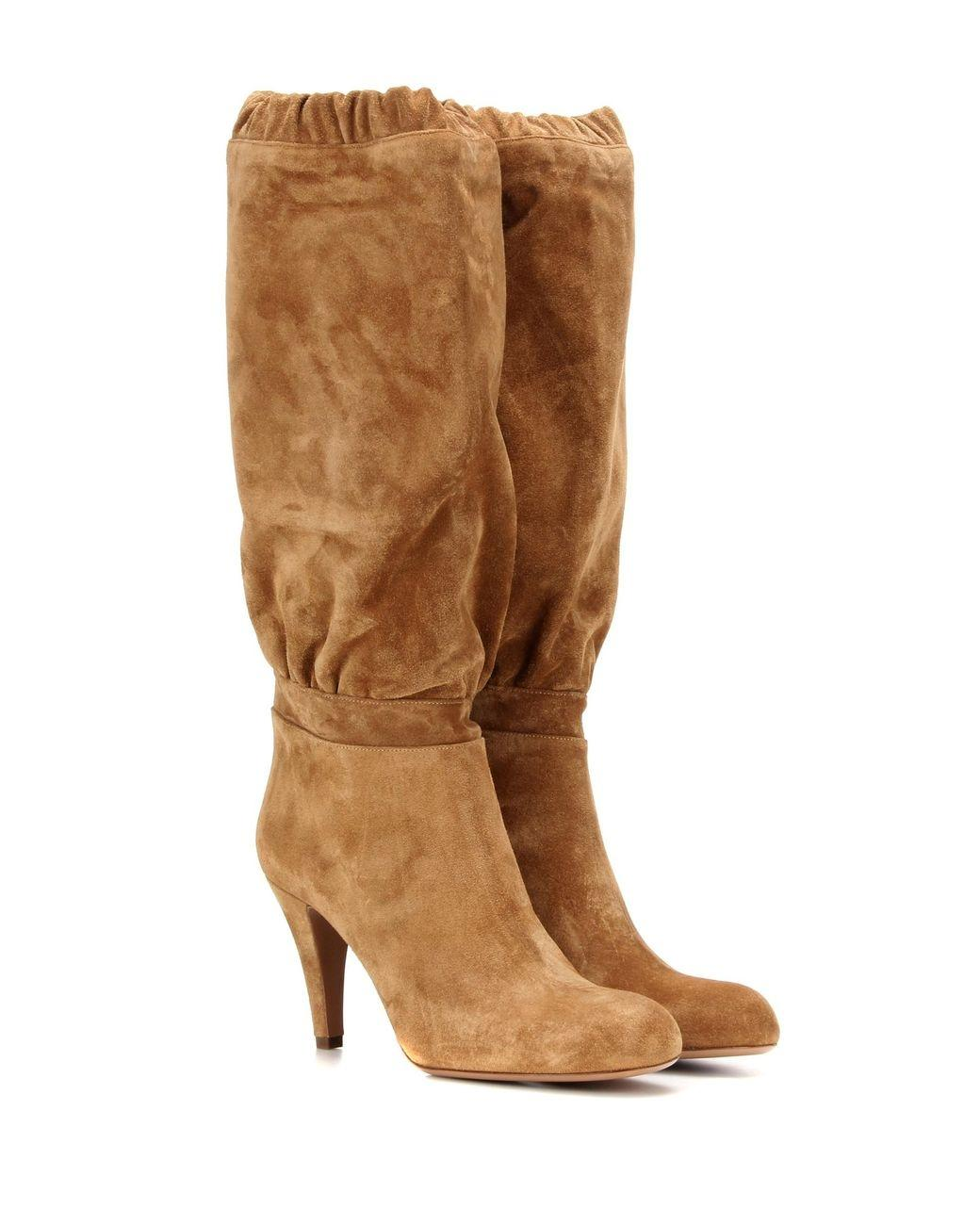 1a54ab51dd5 Chloé Beige Lena Suede Boots Booties Size US 6 6 6 Regular (M