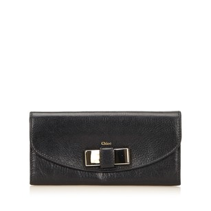 Chloé Black,leather,long Wallets,others,6gclco003