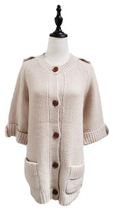Chlo Cable Knit Mid Sleeves Cardigan
