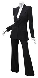 Chlo Chloe Womens Classic Black Wool Single-button Blazer Jacketpant Suit Set 386