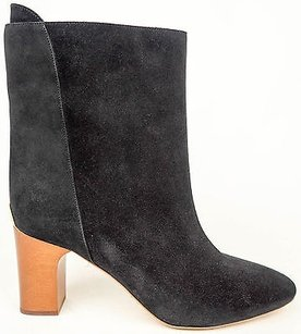 Chloé Chloe Suede Pull On Black Boots