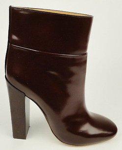 Chloé Chloe Cordovan Matte Leather Dark Brown Boots