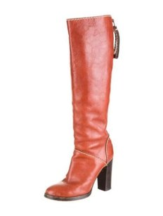 Chloé Chloe Womens Terracotta Red Boots