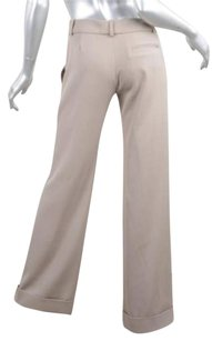 Chloé Chloe Womens Classic Casual Khaki Twill Woven Cuffed Trousers 386 Pants