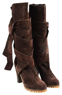 Chloé Chloe Dark Suede Brown Boots