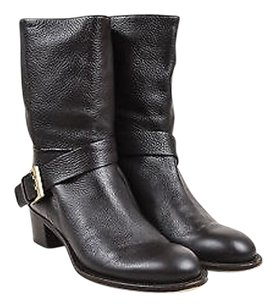 Chloé Chloe Dark Grained Brown Boots