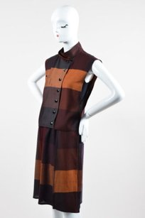 Chloé Chloe Orange Dark Blue Wool Up Vest Set Skirt Multi-Color