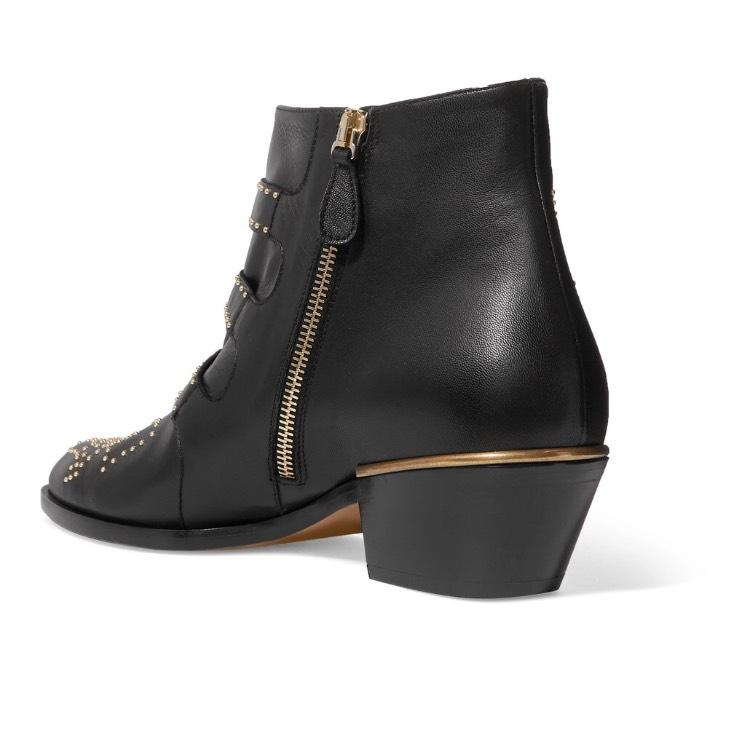 4c640a760180c ... Chloé Susanna Studded Studded Studded Ankle Boots Booties Size US 6.5  Regular (M