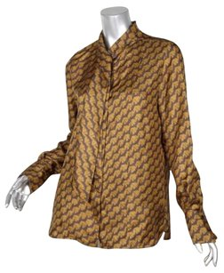 Chloé Chloe Womens Bird Print Top Brown