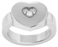 Chopard CHOPARD 18K WHITE GOLD HAPPY DIAMONDS HEART RING