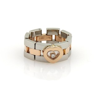 Chopard Chopard Happy Diamond 18k Rose Gold Steel Panther Link Flex Band Ring