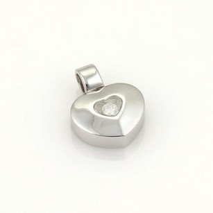 Chopard Chopard Happy Diamonds 18k White Gold 1 Floating Diamond Heart Pendant