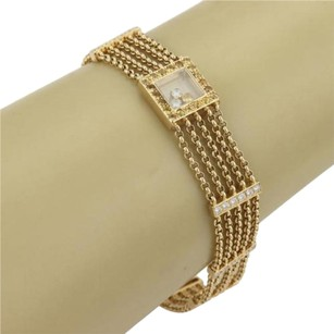 Chopard Chopard 18k Gold Happy Diamond Sapphire Five Strand Chain Bracelet