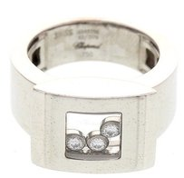 Chopard Ladies Chopard Happy Diamonds 18k White Gold Ring