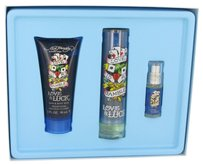 Christian Audigier Love & Luck By Christian Audigier Gift Set -- 1.7 Oz Eau De Toilette Spray + 3 Oz Hair & Body Wash + .25 Oz Mini Edt