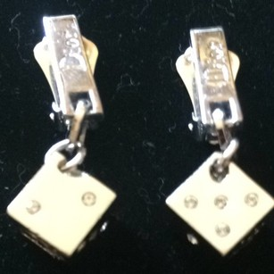 Dior Christian Dior Dice Crystal Clip Earrings