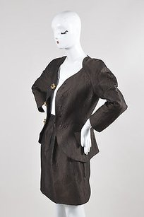 Christian Lacroix Christian Lacroix Pret-a-porter Brown Gem Button Blazer Pencil Skirt Set
