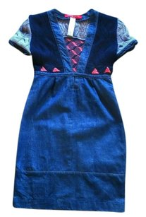 Christian Lacroix short dress Denim, Black & Lilac Jean Maxi Midi Mini Angora on Tradesy