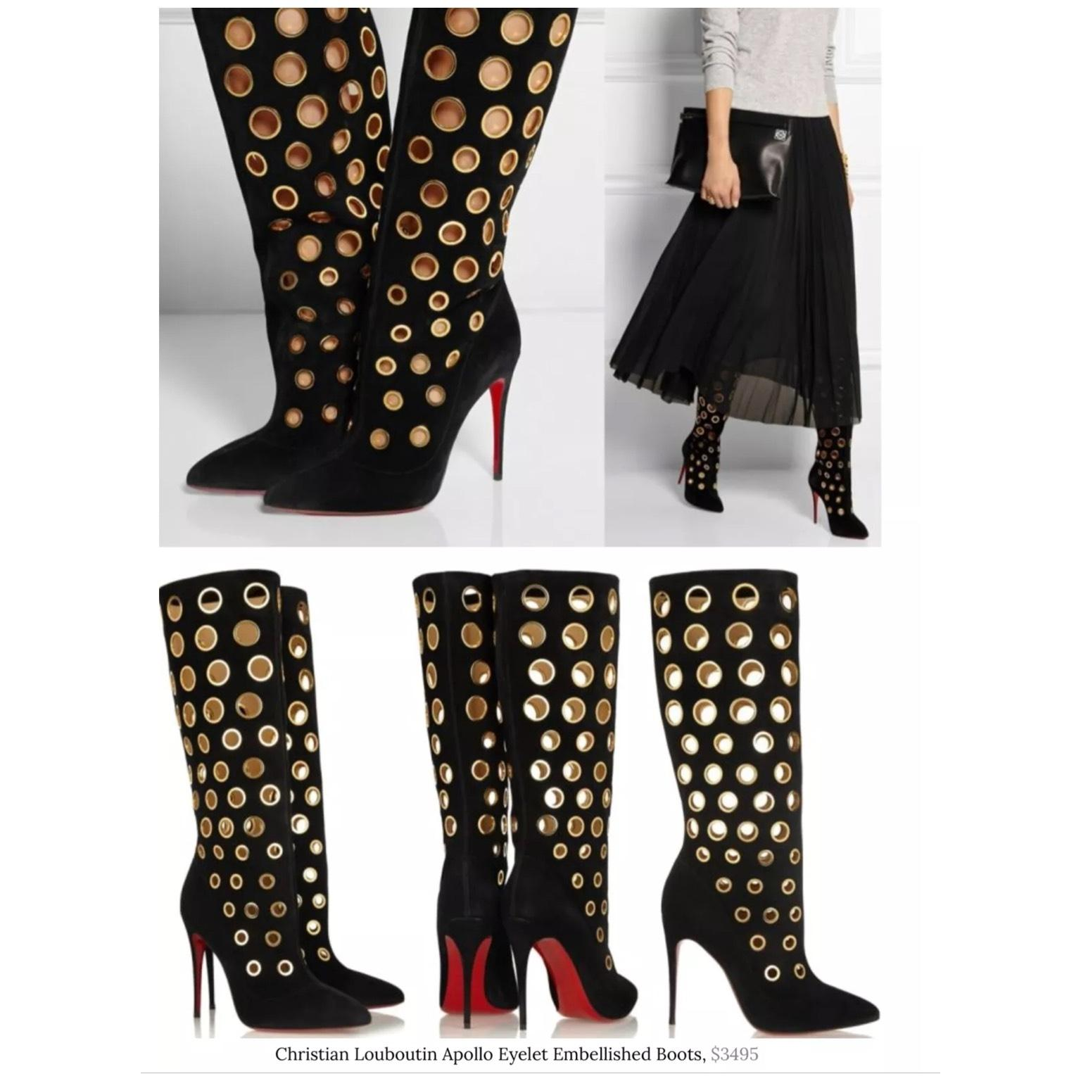 christian louboutin grommet boots