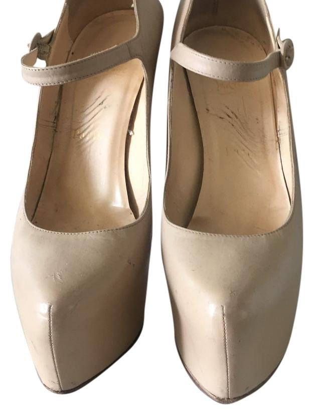 Christian Louboutin Beige/ Nude US Daffodil Leather Platforms Size US Nude 8.5 Regular (M, B) 7b265d