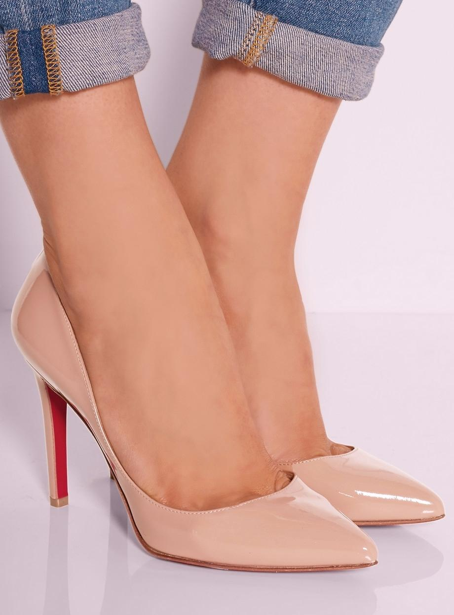 Christian Louboutin Pigalle Patent Leather 5.5 35.5 Pointed Toe Classic  Beige Nude, Rose Pumps. 1234567
