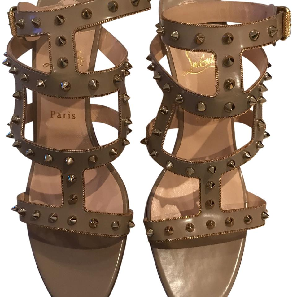 Christian Louboutin Beige Unknown US Sandals Size US Unknown 11.5 Regular (M, B) e597aa