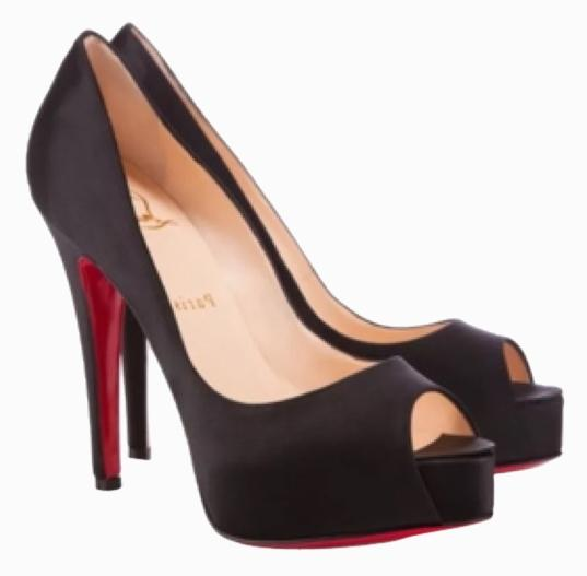 Christian Louboutin Satin peep-Toe Pumps cheap factory outlet cheap online store buy cheap shop for outlet with paypal order online 2015 sale online kUpLc