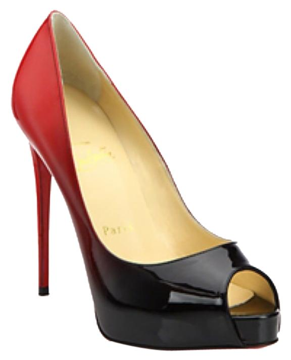 Christian Louboutin Black & Red Very Prive Pumps Size US 8 Regular (M, B)