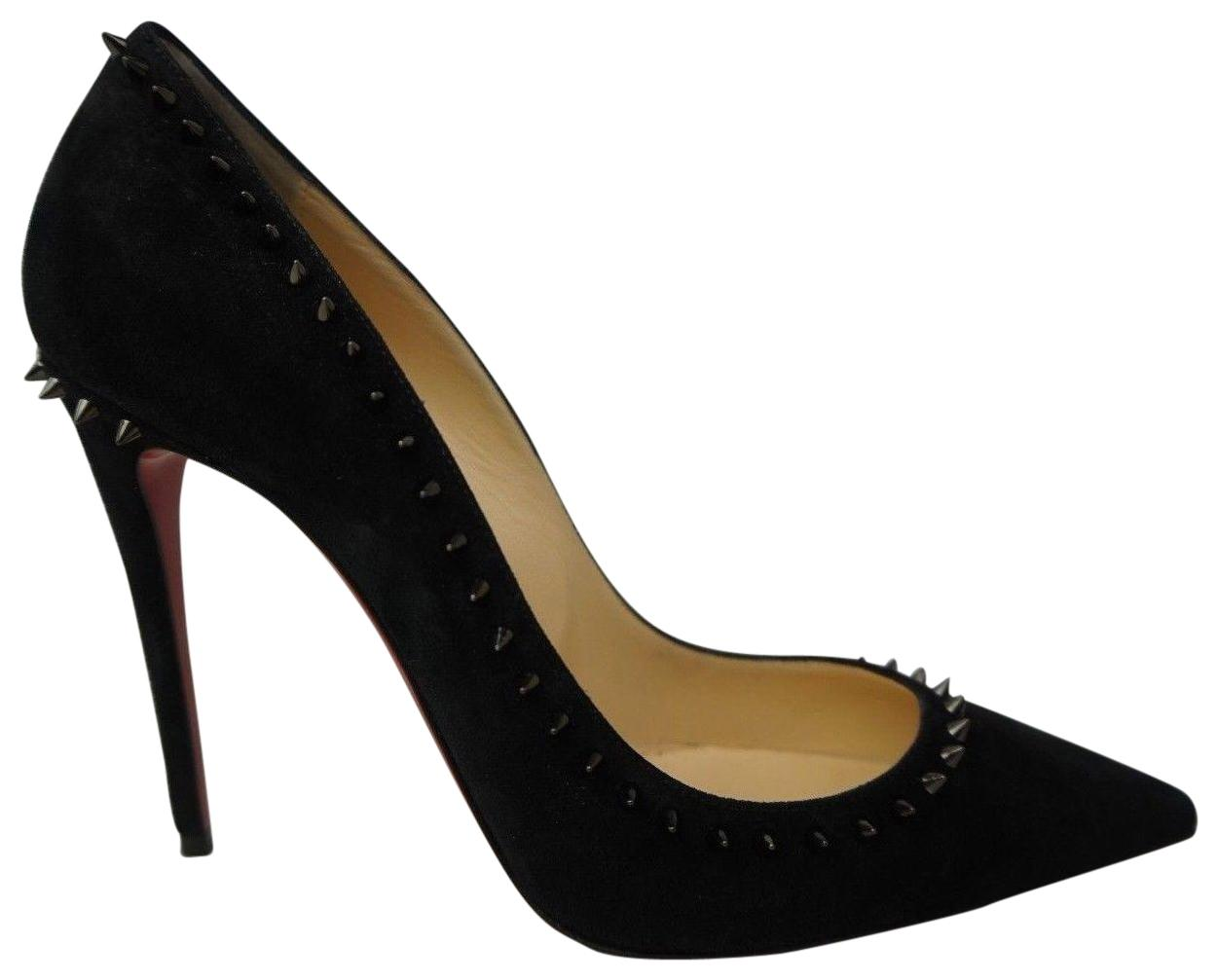 Christian Louboutin Black Anjalina Suede Pumps Size EU 39 (Approx. US 9) Regular (M, B)