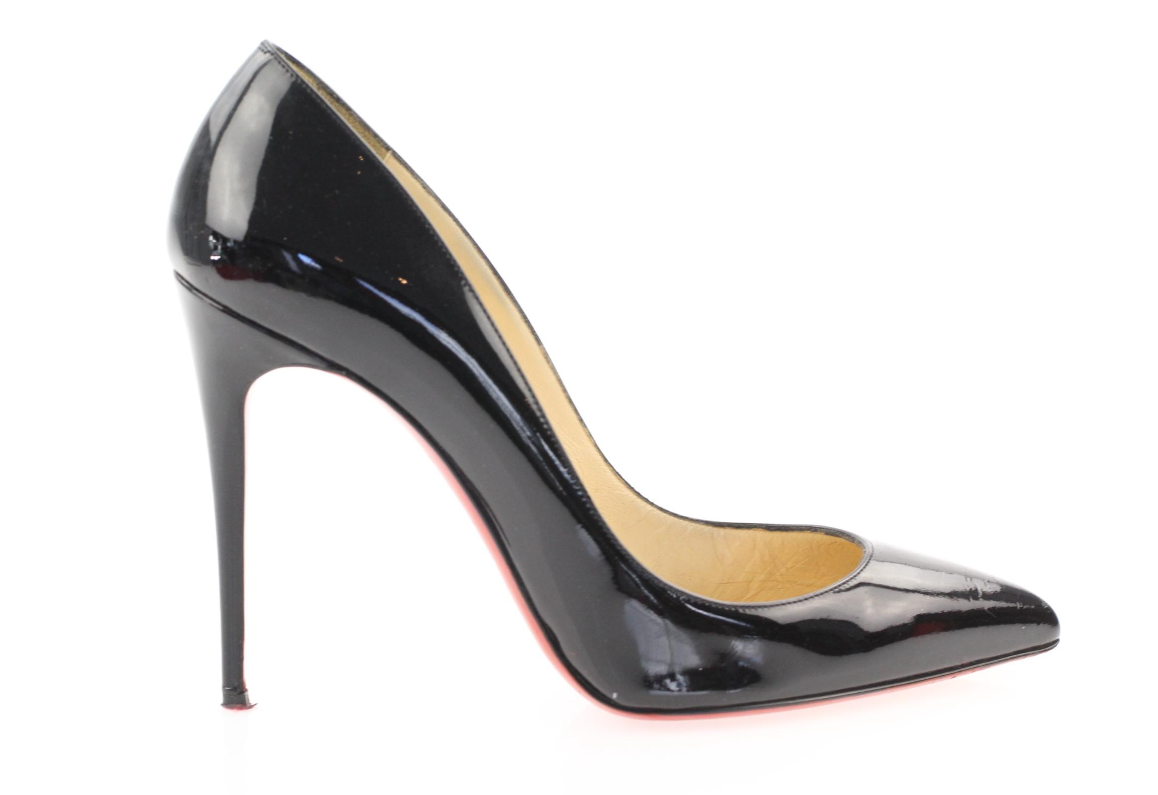 2694cd1b6c9f ... Christian Louboutin Black Classic Pigalle Pigalle Pigalle Follies 100mm  Patent Shiny Leather Point-toe Pumps ...