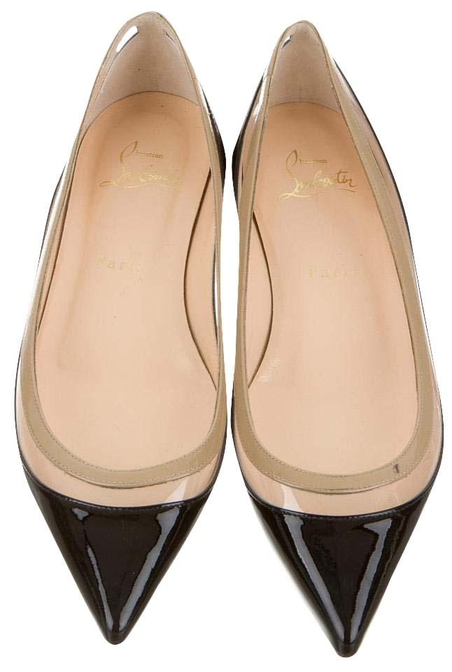 40006abe92ae Christian Louboutin Black Clear Patent Leather Paulina 37 Flats Size Size  Size US 7 Regular (M