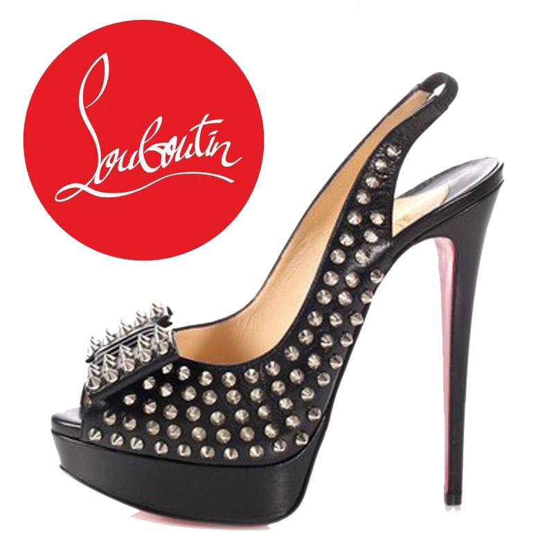60b86997979 Christian Louboutin Black Clou Noeud Platforms Size Size Size EU 40.5  (Approx. US 10.5) Regular (M