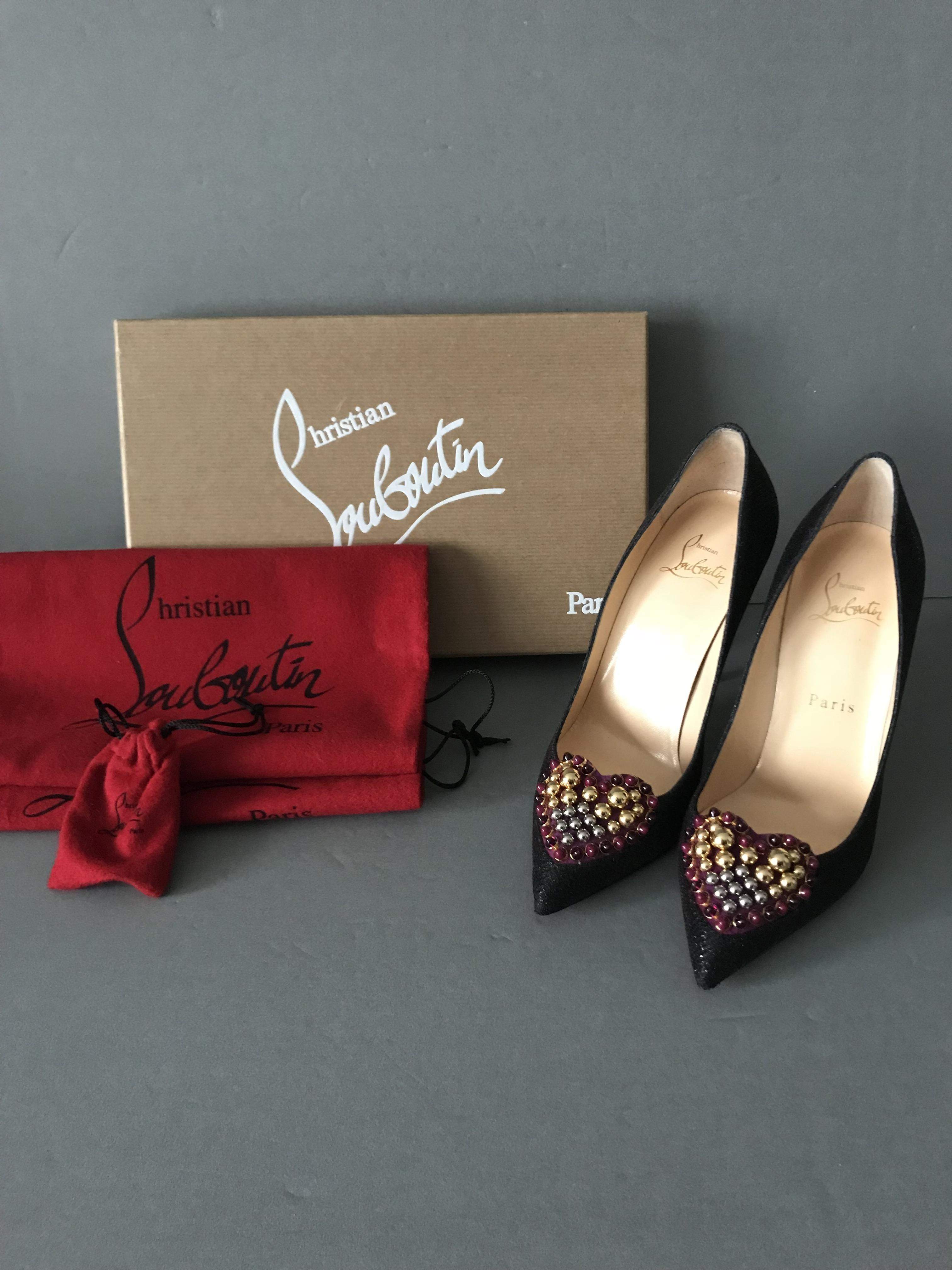 e2ab8ce7eaf best price louboutin flat heart shoes dff26 e118c