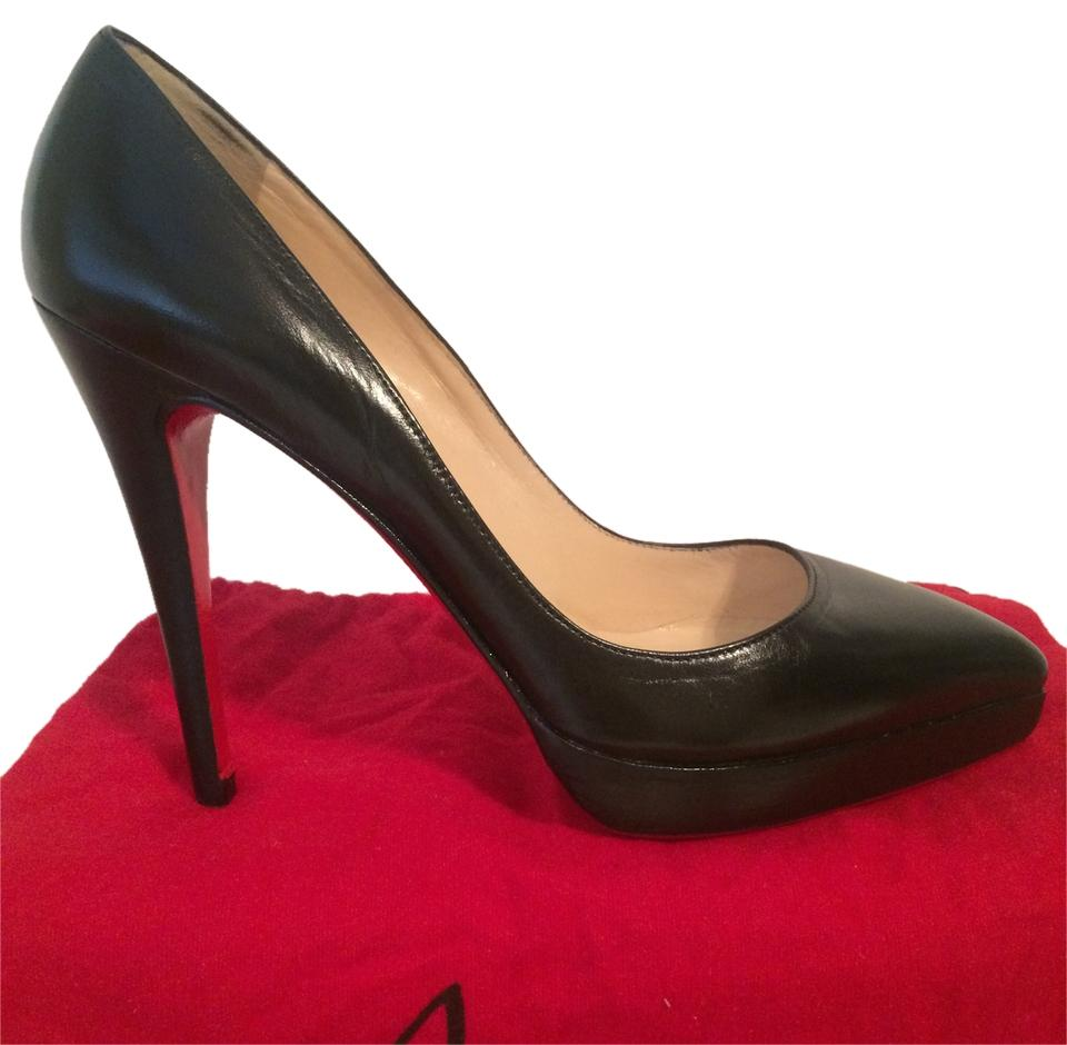 Christian Louboutin Black Gwenissima Leather Eu 40 - 9.5 Pumps Size US 9