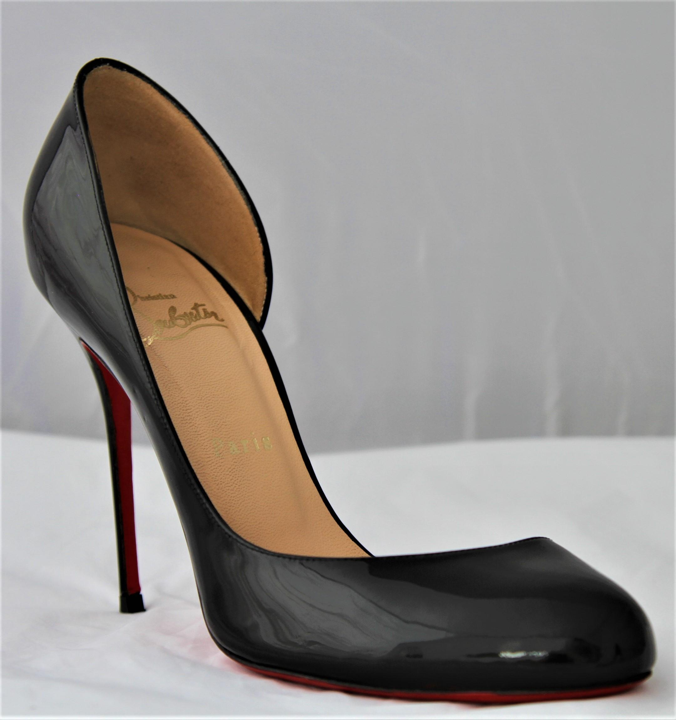 111d8faf546 ... Christian Louboutin Black Helmour 39 39 39 It Patent Leather 100 High  Heel Red Sole Lady ...