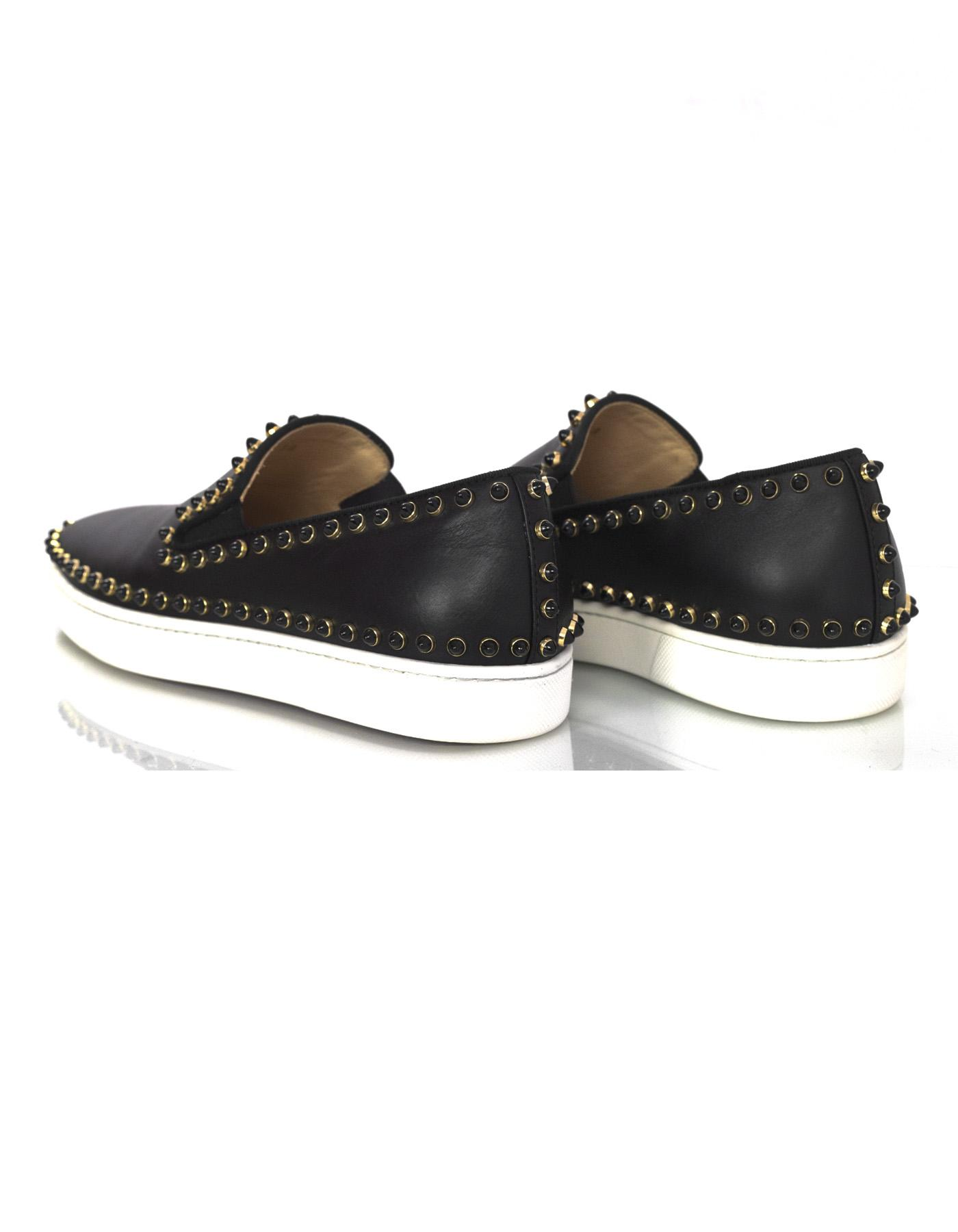 2fe14521a71b ... cheapest christian louboutin sneakers flats studded leather black  athletic. 12345678 ee87c 295b8