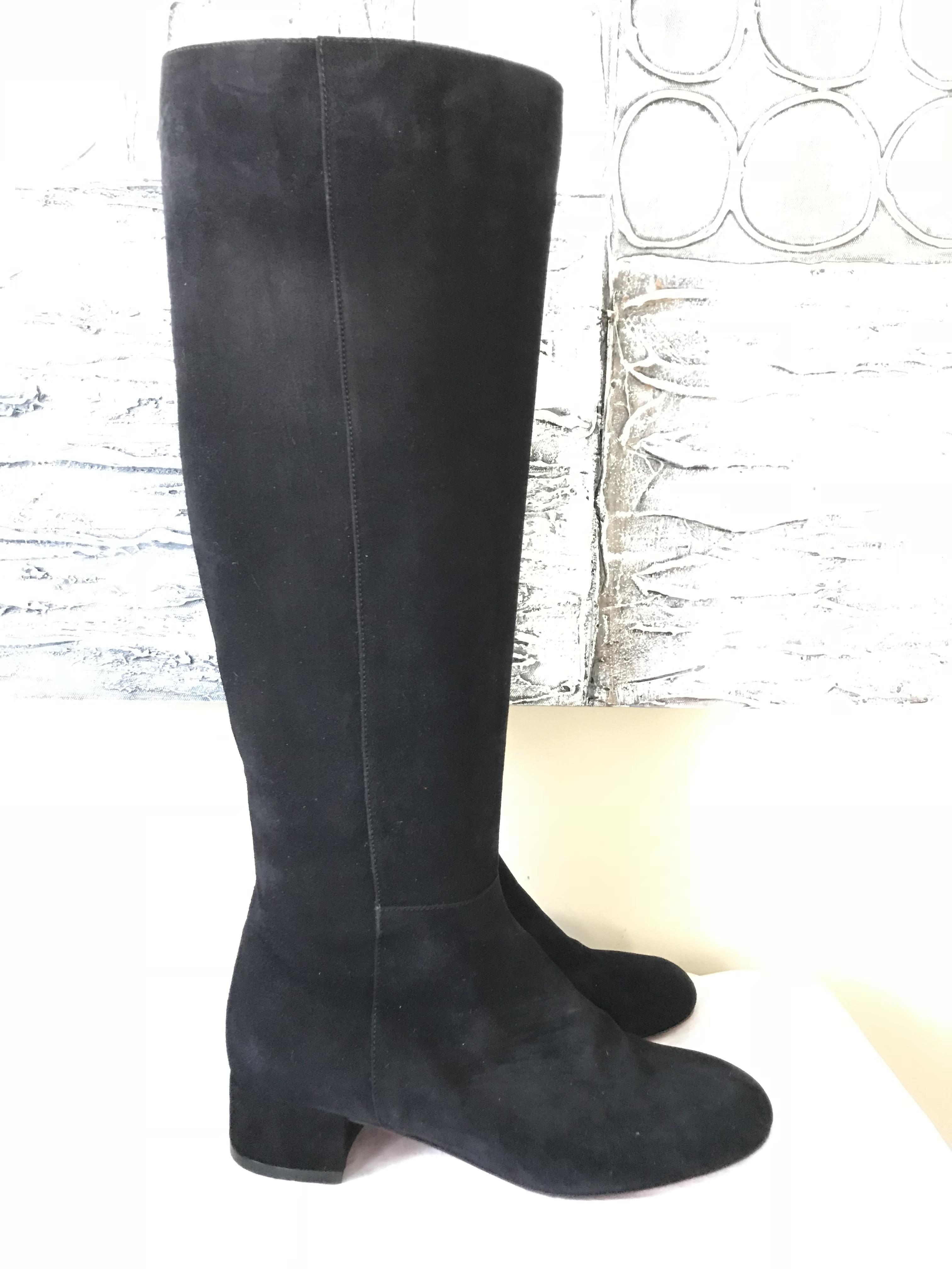 444d9058dd67 ... Christian Louboutin Black Liliboot 30 30 30 Suede Knee High Tall Heels  Boots Booties Size ...