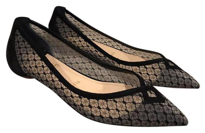 Christian Louboutin Black Neoflat Mesh Suede Pointed 37 Ballet 37 Pointed Flats Size US 7 Regular (M, B) 69eaa2