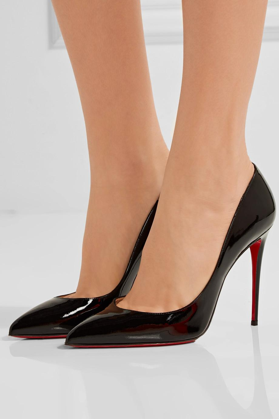 Christian Louboutin Pigalle Follies 100 Leather Point Toe Pumps RbBLl
