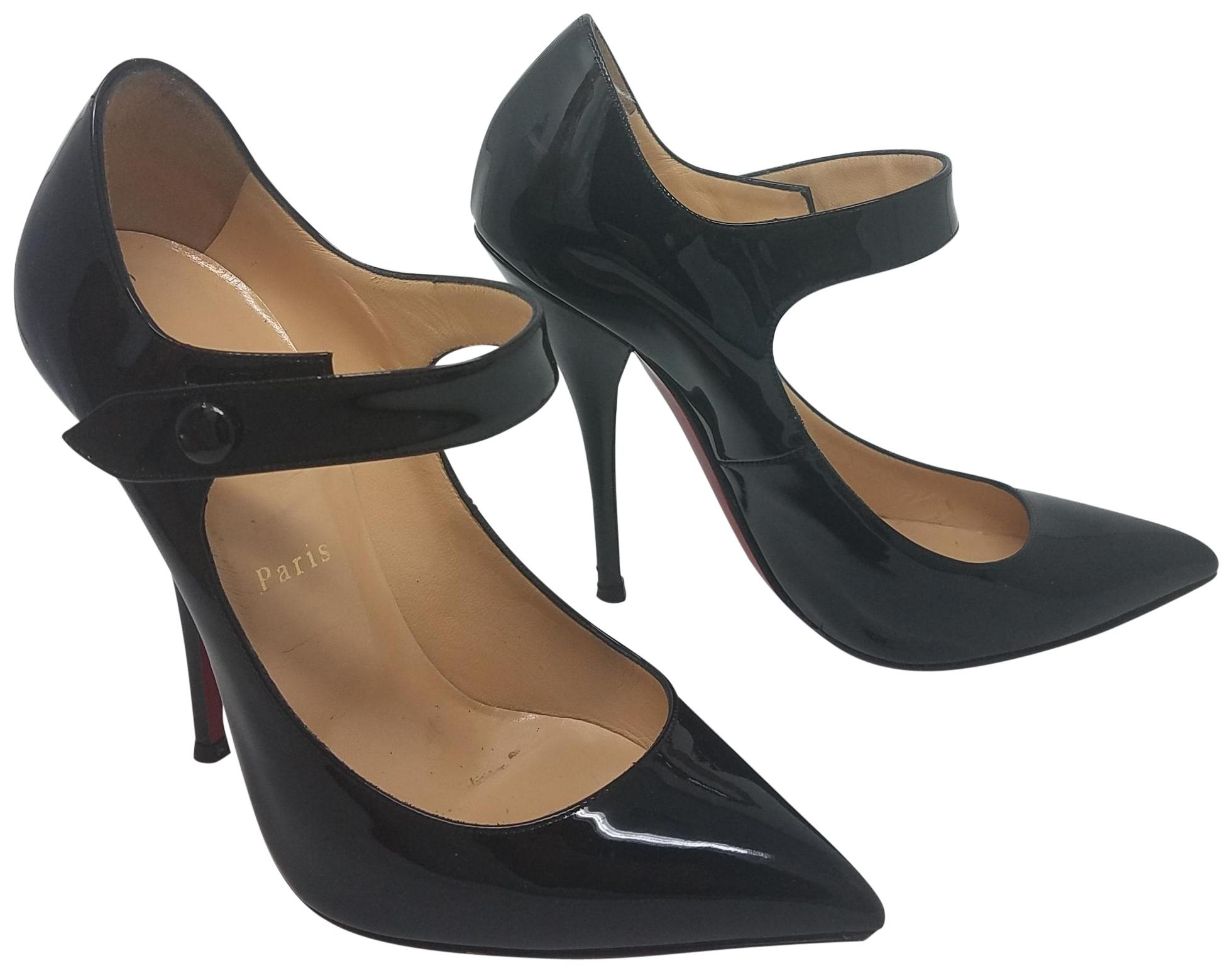 Christian Louboutin Black Patent Leather Neo Pensee Pumps Size EU 37 (Approx. US 7) Regular (M, B)