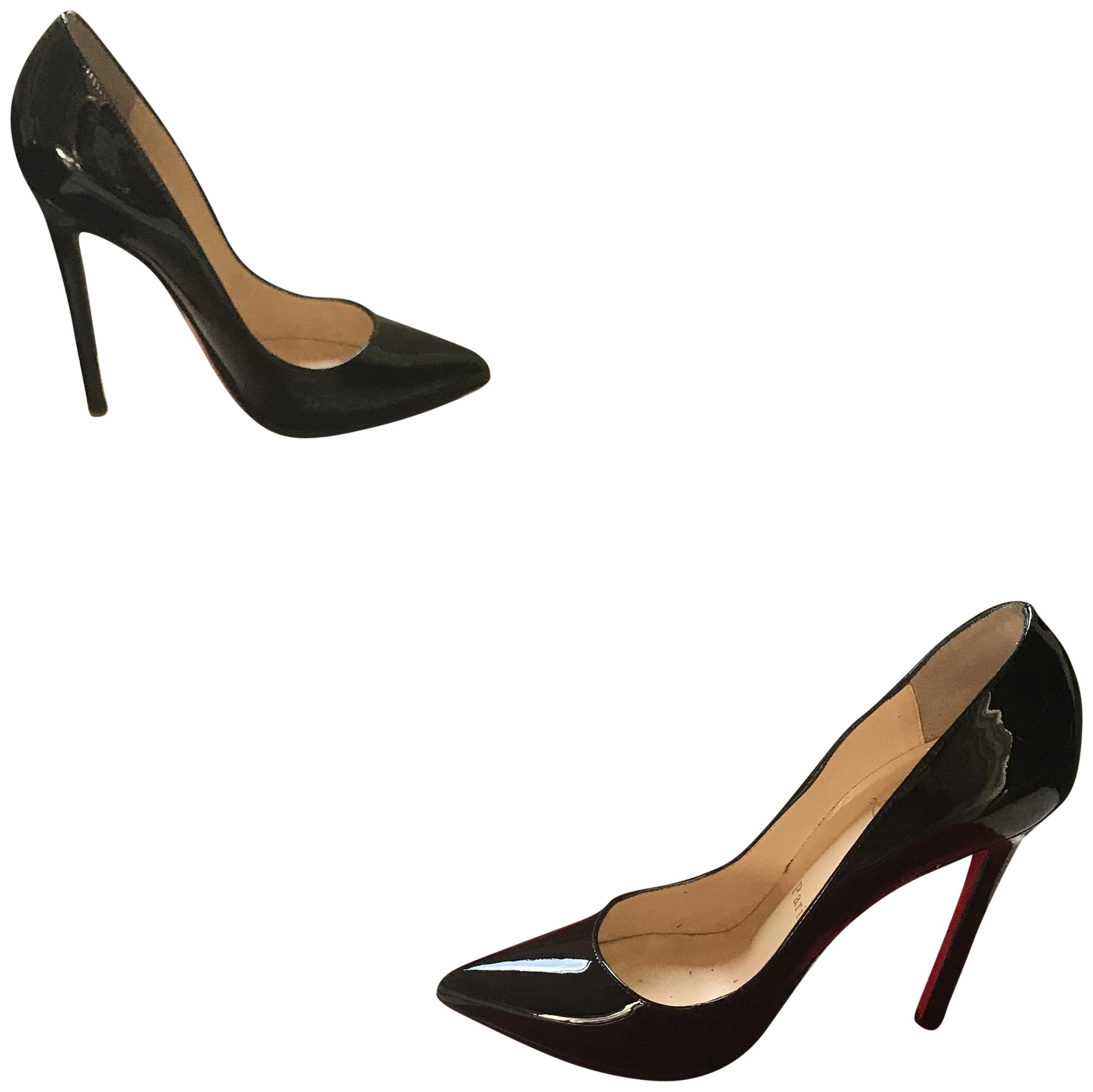 louboutin pigalle 120mm black patent