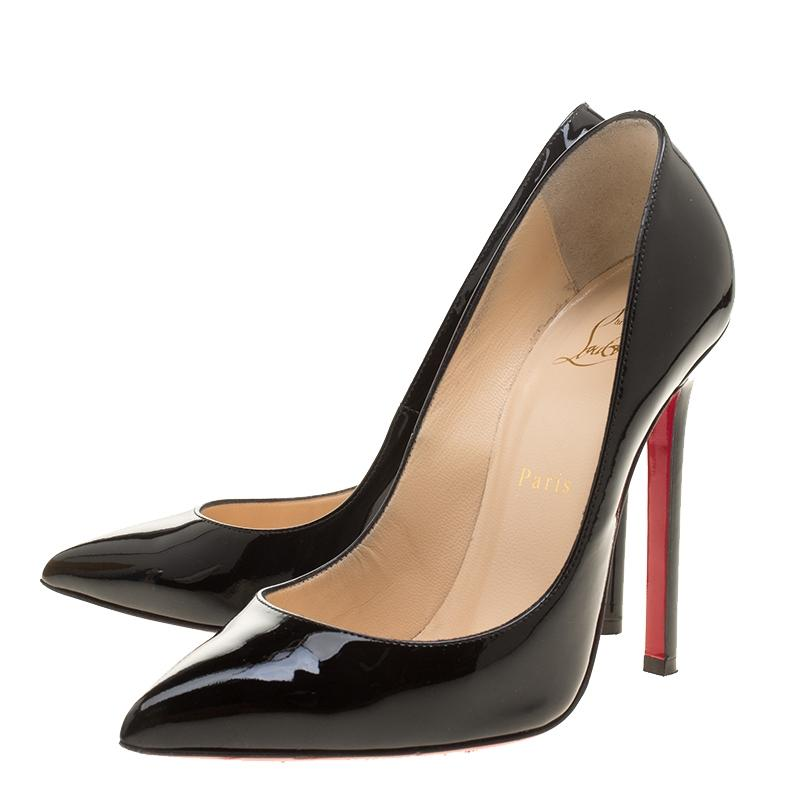 a9d3ccaee5 Christian Louboutin Black Patent Leather Pigalle Pointed Pumps Size EU EU EU  37.5 (Approx.