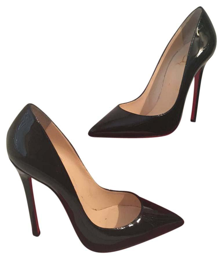 Christian Louboutin Black Pigalle 120 Patent Leather 39 Pumps Size US 8.5