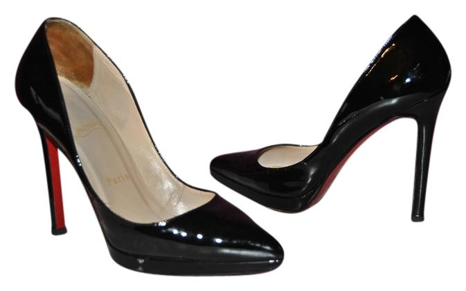 9598560c4b Christian Christian Christian Louboutin Black Pigalle Plato 120 In Patent Leather  Pumps Size US 7 Regular