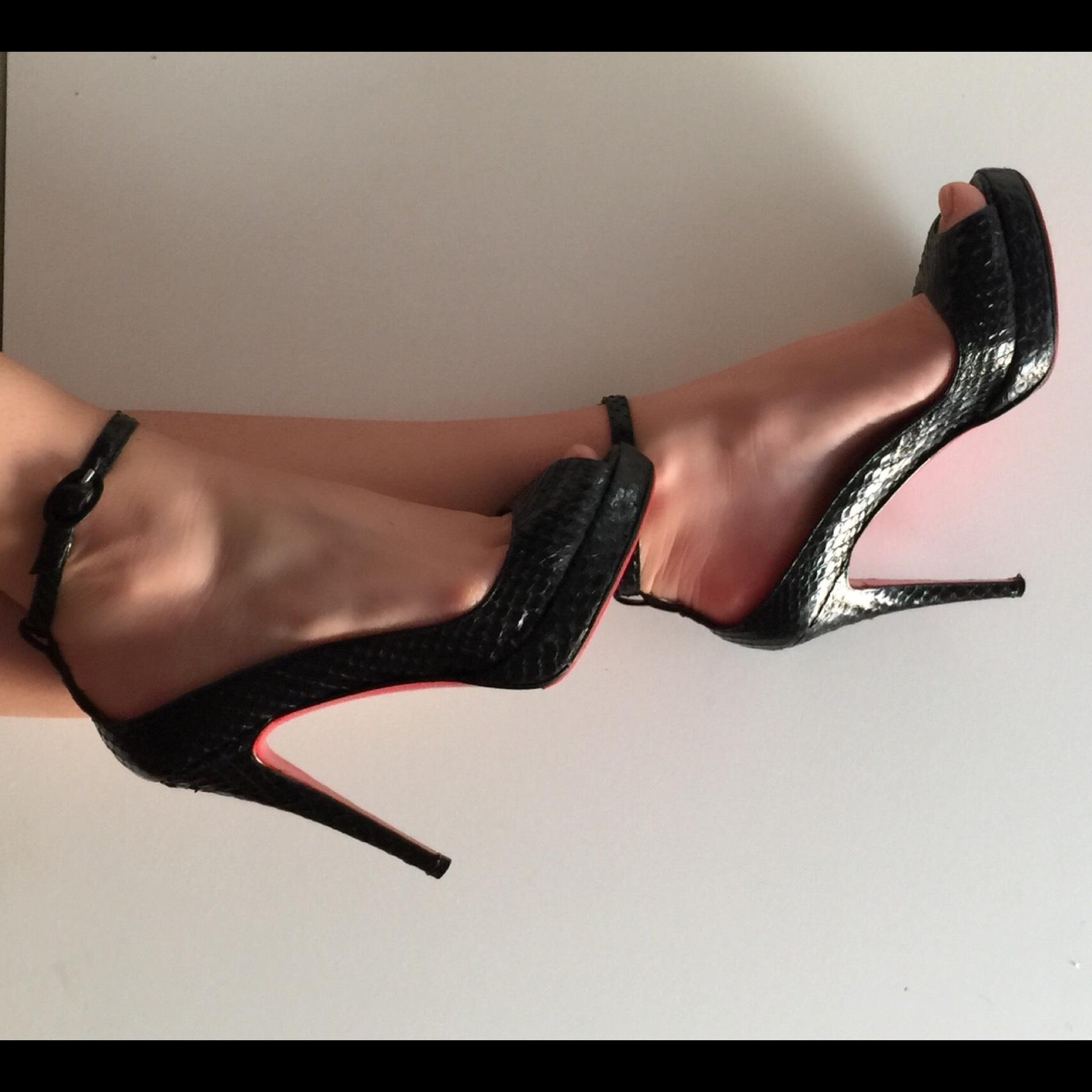 y-opens sandales christian  louboutin Noir  christian python 2f5411