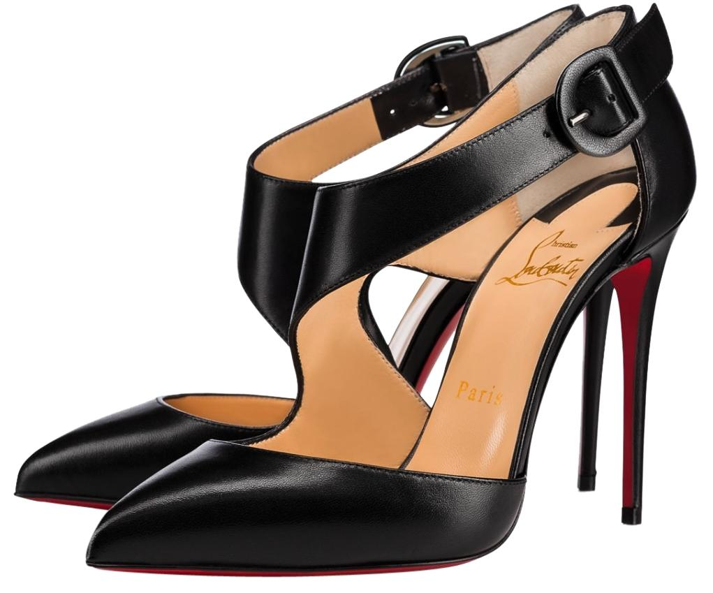 cb52bd0d8b4 Christian Louboutin Black Sharpeta 100mm Strap Buckle A992 A992 A992 ...