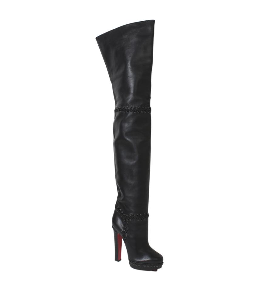 Christian Louboutin Black Tres Contente Supra 140 (113073) Boots/Booties Size US 7