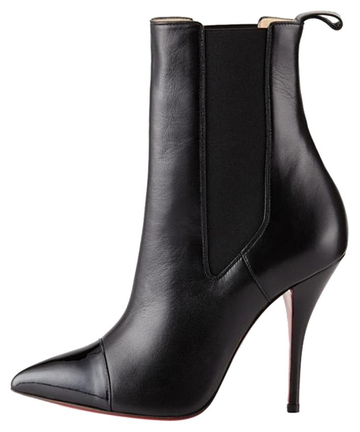Christian Louboutin Black Tuscon Patent Leather Boots/Booties Size US 6.5
