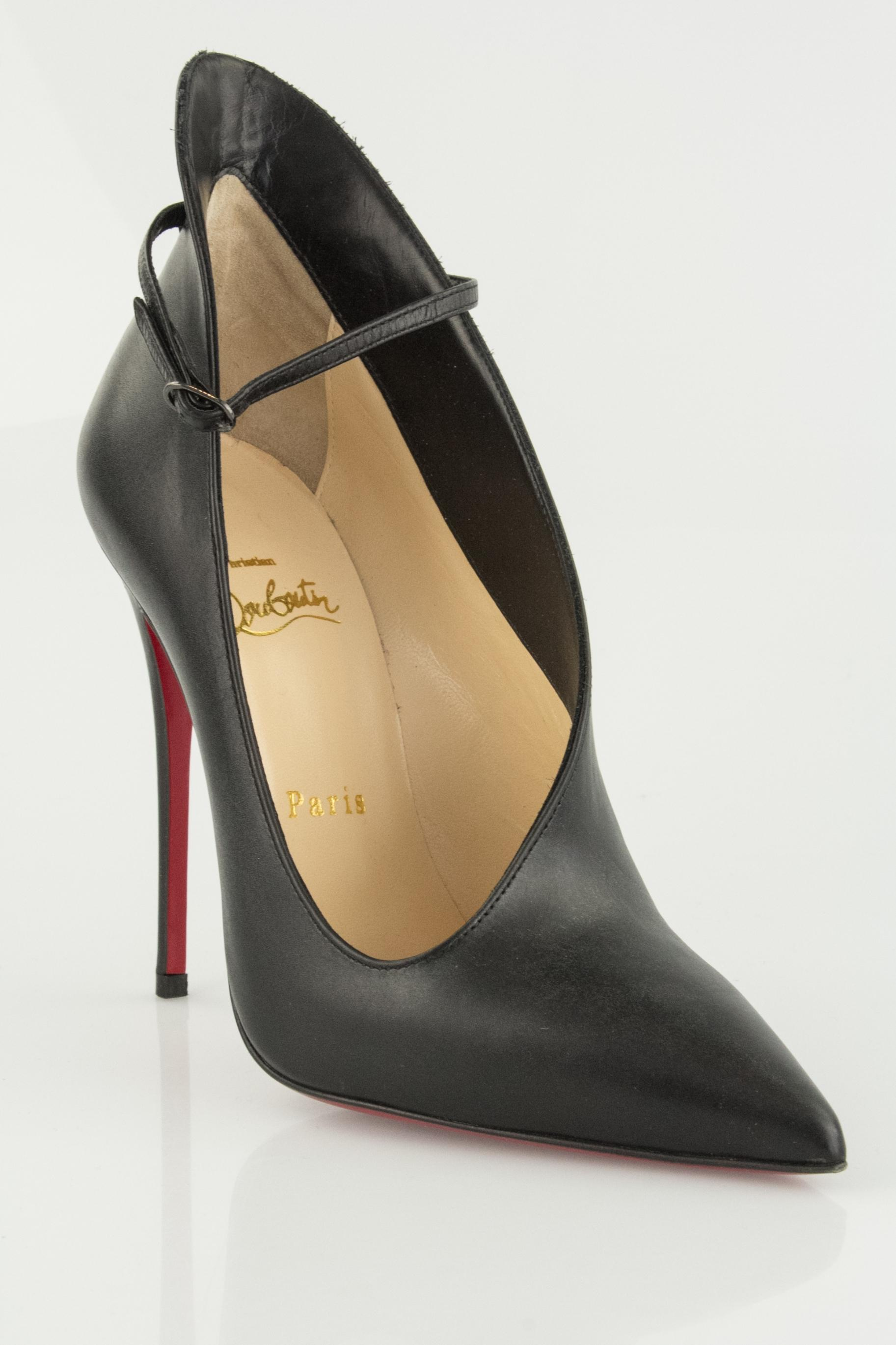 4efe014359ea ... best christian louboutin red bottom vampdoly leather unique black pumps  a881b fca9a