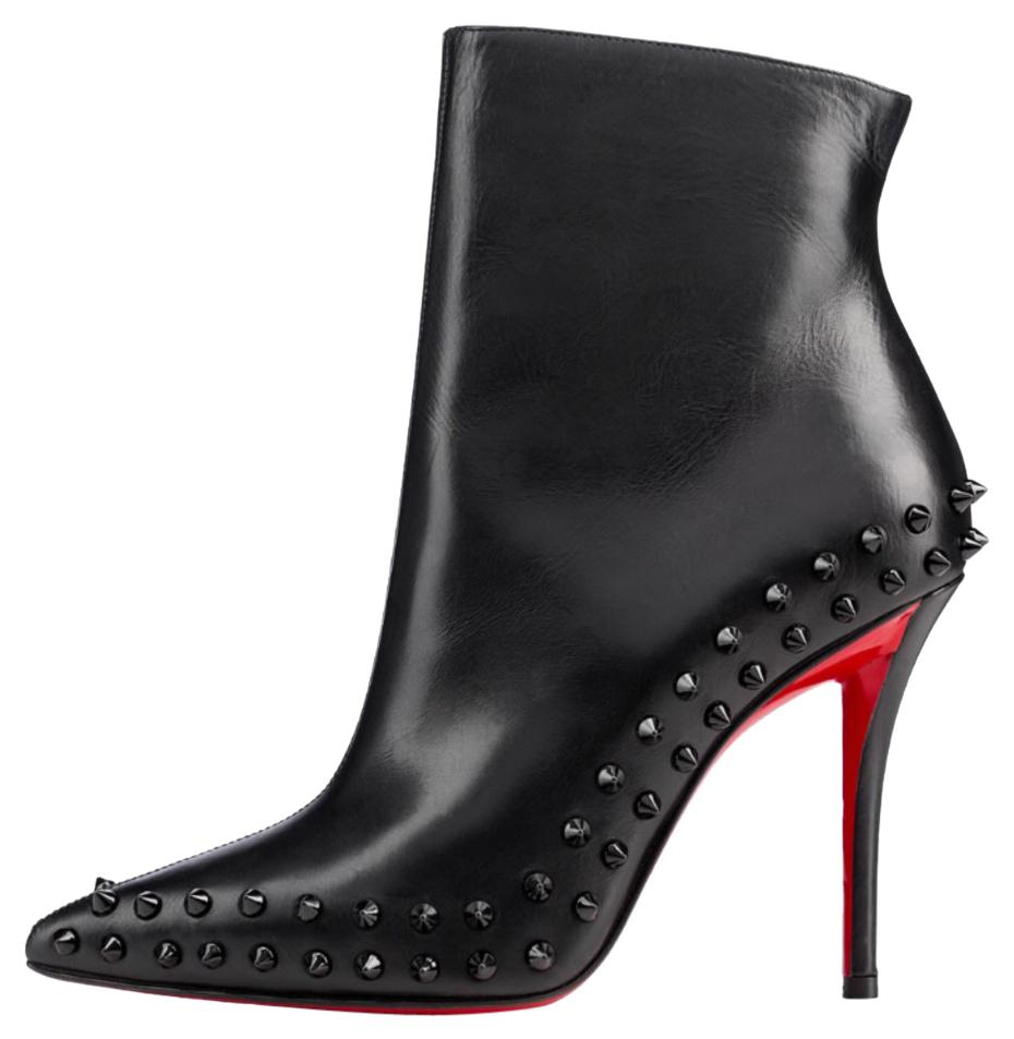 5a511284134 reduced christian louboutin black studded boots 2f119 fe62d